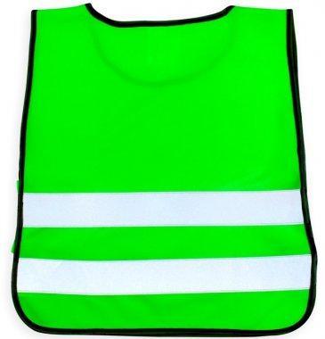 kamizelka odblaskowa z rzepami i gumka nr203kid zielona.1