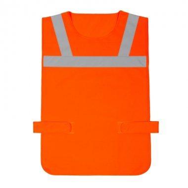 narzutka odblaskowa znacznik bezrekawnik dla rowerzysty pomaranczowa kam80