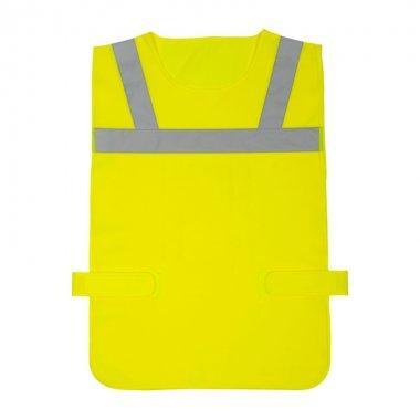 narzutka odblaskowa znacznik bezrekawnik dla rowerzysty zolta kam79