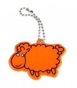 zawieszka miekka owca pomaranczowa zaw49