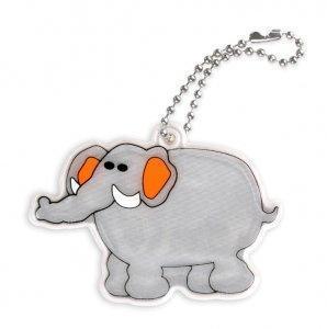 zawieszka miekka slon szary zaw69