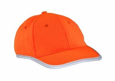 czapka odblaskowa dla dzieci pomaranczowa