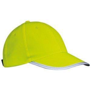 czapka odblaskowa dla dzieci zolta