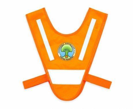 miniszelka v vest dla malych dzieci z gumkami pomaranczowa 1