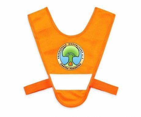 miniszelka v vest dla malych dzieci z gumkami pomaranczowa 2
