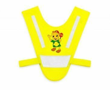 miniszelka v vest dla malych dzieci z gumkami zolta stop.1