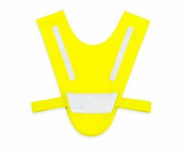 miniszelka v vest dla malych dzieci z gumkami zolta